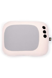 PODUSZKA RETRO TV pink / grey / black